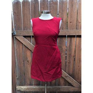 NWT Zara Red Sleeveless Open Back Dress sz Small